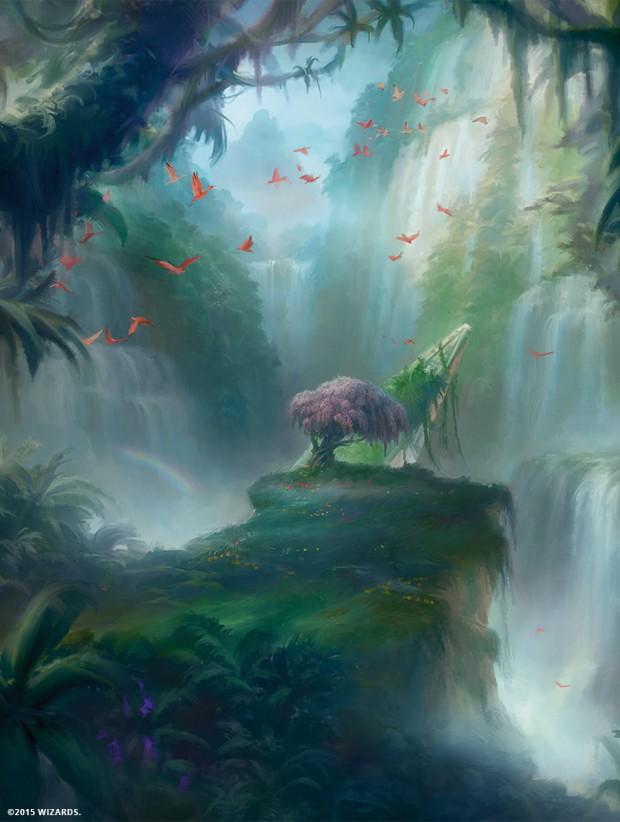 フェッチ霧深い雨林