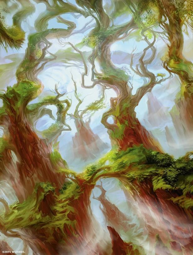 フェッチ樹木茂る山麓