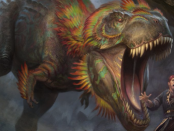 Charging-Monstrosaur-Ixalan-Art